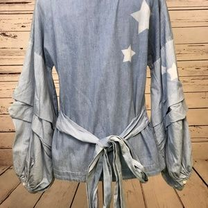 Anthropologie Tops - NWT Anthropologie Small Nanette Chambray Top Stars